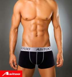 Asitoo Cotton Black Boxer