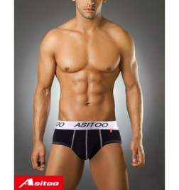 Asitoo Cotton Black Brief