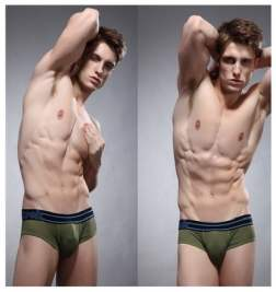 Брифы в сетку ZPOH Deep Green Mesh Brief