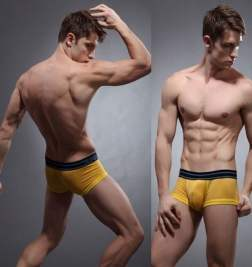 Хипсы в сетку ZPOH Yellow Mesh Hip Boxer
