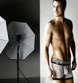 Мужские трусы хипсы Aussiebum Lightening Hip Black & White